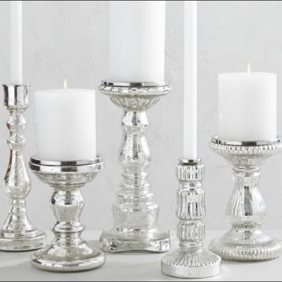 Set of three Mercury candle holders